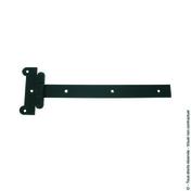 Penture festonnée 30x4 L.500mm Bout droit Trous carrés Noire - Quincaillerie de volets - Menuiserie & Aménagement - GEDIMAT