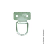 Lot de 2 anneaux de tirage pour persienne en acier zingué blanc - Quincaillerie de fenêtres - Menuiserie & Aménagement - GEDIMAT