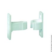 Arrêt à clips de portillon à pince L.50mm composite blanc sachet cavalier - Quincaillerie de volets - Menuiserie & Aménagement - GEDIMAT