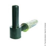 Gond à visser + cheville diam.14 L.100 mm Noir - Quincaillerie de volets - Menuiserie & Aménagement - GEDIMAT