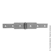 Charnière à congé 50x2,5 L.140 + L.140mm Zinguée blanc - Quincaillerie d'ameublement - Menuiserie & Aménagement - GEDIMAT