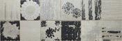 Décor COLLAGE pour mur en faïence satinée rectifiée MEGALOS HIPSTER larg.29,5cm long.90,1cm coloris smoke - Carrelages murs - Cuisine - GEDIMAT