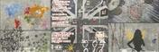 Décor UNDERGROUND pour mur en faïence satinée rectifiée MEGALOS NOVA larg.29,5cm long.90cm - Bande de chant mélaminé non encollé ép.4mm larg.23mm long.100m Prunier Karntern - Gedimat.fr