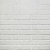 Briquettes en grès cérame émaillé TRIBECA BRICK larg.6cm long.25cm coloris white - Carrelages murs - Cuisine - GEDIMAT