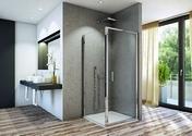 Paroi fixe LINEA long.80cm haut.200cm verre transparent - Portes - Parois de douche - Salle de Bains & Sanitaire - GEDIMAT