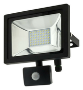 Projecteur LED 20W noir avec détecteur - Projecteurs - Baladeuses - Hublots - Electricité & Eclairage - GEDIMAT