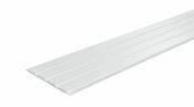 Lambris sous face PVC extérieur Long.4,00m larg.250mm utile Ép.10mm (264,5 hors tout) Coloris blanc - Doublage polyuréthane SIS AGRI GREEN long.2,50m ép.100mm - Gedimat.fr