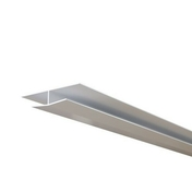 Profilé de raccord ép.12mm larg.37mm long.4m Blanc - Raccord à ailette hauteur 300 mm Blanc - Gedimat.fr
