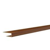 Profilé de bordure ép.12 mm larg.20 mm long.4 m chêne - Pointe couleur pour planche de rive hauteur 40 mm Chêne - Gedimat.fr