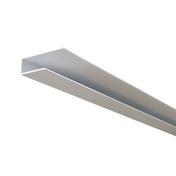 Profilé de bordure ép.12 mm larg.20 mm long.4 m blanc - Lambris sous face PVC extérieur ép.10 mm larg.250 mm utile (264,5 hors tout) long.4 m Gris anthracite - Gedimat.fr