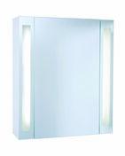 Armoire de toilette long.59.2cm haut.70cm prof.18cm BRILLANCE DECOTEC blanc - Armoires de toilette et Accessoires - Salle de Bains & Sanitaire - GEDIMAT