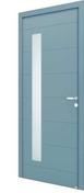 Porte d'entrée ALBE en aluminium thermolaqué gauche poussant haut.2,15m larg.90cm - Portes d'entrée - Menuiserie & Aménagement - GEDIMAT