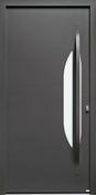 Porte d'entrée AZUR en aluminium thermolaqué droite poussant haut.2,15m larg.90cm - Bois Massif Abouté (BMA) Sapin/Epicéa traitement Classe 2 section 60x220 long.12m - Gedimat.fr