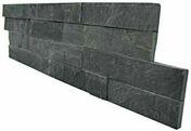 """Plaquette de parement LAVA format """"Z"""" 15x55-60x1-2 cm Coloris ardoise - Poutre NEPTUNE section 12x35 long.4,50m pour portée utile de 3.6 à 4.1m - Gedimat.fr"""