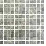 Emaux de verre de 2,5x2,5cm antidérapant ECOSTONE sur trame de 31,1x31,1cm coloris silver - Mosaïques - Galets - Revêtement Sols & Murs - GEDIMAT