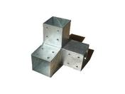 Connecteur 3D en Y en acier galvanisé pour poteau 9x9cm dim.20x20x20cm - Connecteur 2D en L en acier galvanisé pour poteau 9x9cm dim.20x20x9cm - Gedimat.fr