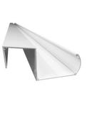 Gouttière aluminium universelle coloris Blanc 5,00m - Vérandas - Menuiserie & Aménagement - GEDIMAT
