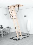 Escalier escamotable Coupe-feu en sapin trémie 120x70cm haut.2,80m avec trappe isolante - Escaliers - Menuiserie & Aménagement - GEDIMAT