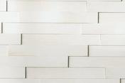 Revêtement mural pin maritime massif 3D NEOGRAPHE ép.10-18mm larg.70mm long.500mm Guggenheim blanc - Parements intérieurs - Cuisine - GEDIMAT