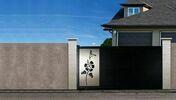 Portail coulissant YUKON en aluminium haut.1,60m largeur entre piliers 4,00m gris RAL 7016 STR - Vérin réglable PLOT ZOOM 60-105 - Gedimat.fr