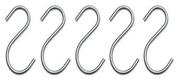 Lot de 5 crochets en acier inoxydable - Armoires de toilette et Accessoires - Salle de Bains & Sanitaire - GEDIMAT