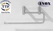 Support papier absorbant PHILADELPHIA long.275mm larg.90mm prof.65mm fintion satin - Armoires de toilette et Accessoires - Salle de Bains & Sanitaire - GEDIMAT