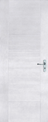 Porte seule ARCTIQUE matricée prépeinte 2040x830mm - Porte d'entrée Aluminium DAKOTA avec isolation totale de 120mm gauche poussant haut.2,15m larg.90cm laqué blanc - Gedimat.fr