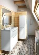 Meuble monté à suspendre BROOKLYN FITLINE long.80cm blanc - Meubles de salles de bains - Salle de Bains & Sanitaire - GEDIMAT