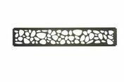 Décor minéral pour clôture Claustra 321x24mm long.1.783m. Gris anthracite - Grillages - Aménagements extérieurs - GEDIMAT
