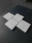 Pavé PHARAON BEIGE dim.15x15x2cm - Tuyau droit émaillé noir mat diam.130mm long.50cm - Gedimat.fr