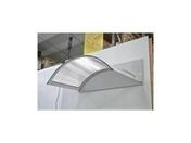 Marquise contemporaine arrondie en aluminium laqué blanc CLASSIC prof..90cm long.1,60m - Auvents - Marquises - Menuiserie & Aménagement - GEDIMAT