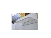 Marquise contemporaine en aluminium laqué blanc CLOE prof.90cm long.1,20m - Marquise contemporaine en acier laqué blanc LINE180 prof.90cm long.1,80m - Gedimat.fr