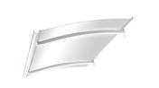 Marquise contemporaine en acier laqué blanc avec Leds ISIS prof.90cm long.1,50m - Auvents - Marquises - Menuiserie & Aménagement - GEDIMAT