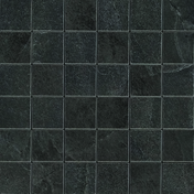 Mosaïque pour sol intérieur en grès cérame coloré dans la masse rectifié X-ROCK dim.30x30cm coloris noir - Carrelages sols intérieurs - Cuisine - GEDIMAT