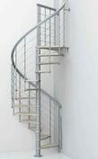 Escalier hélicoïdal NICE 5 LISSES en acier/bois diam.1,30m haut.2,61/3,065m - Radiateur HEKLA modèle Horizontal coloris Anthracite 1500W SAUTER - Gedimat.fr