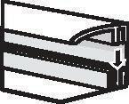 Profilé de finition extrémité clippable long.2,60m - Tuyau diam.120mm coloris rouge flammé - Gedimat.fr