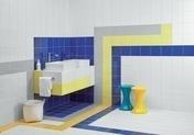 Carrelage pour mur en faïence brillante dim.20x20cm coloris amarillo - Listel Over carrelage pour mur en faïence IPER GLOSSY larg.2,8cm long.33,3cm coloris greeny - Gedimat.fr