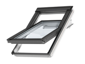 Fenêtre standard VELUX GGL SK08 type 2054 WHITE FINISH haut.140cm larg.114cm - Porte fenêtre PVC blanc VISION isolation totale 120mm 3 vantaux ouverture à la française grand vitrage haut.2,15m larg.1,80m à serrure - Gedimat.fr