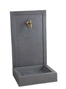 Fontaine AVALON en pierre reconstituée haut.76 cm larg.42 cm Prof.38 cm - Poutrelle en béton LEADER 146 haut.14cm larg.10cm long.6,40m - Gedimat.fr