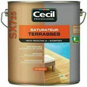Saturateur terrasses SX725 cèdre gris mat  - pot 5l - Produits de finition bois - Aménagements extérieurs - GEDIMAT