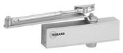 FERME-PORTE hydraulique DESIGN réversible argent avec bras standard force 3 - Quincaillerie de portes - Menuiserie & Aménagement - GEDIMAT