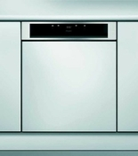 Lave vaisselle 14 couverts intégrable 8 programmes WHIRLPOOL bandeau inox - Four multifonction catalyse WHIRLPOOL 60 litres coloris inox - Gedimat.fr