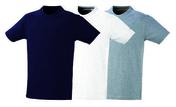 Lot de 3 T-shirt en 100% coton 140 g/m² coloris bleu, blanc et gris taille XL - Protection des personnes - Vêtements - Outillage - GEDIMAT