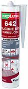 Mastic 642 SILICONE BATI TRANSLUCIDE - cartouche de 300ml - Pâtes et Mastics sanitaires - Plomberie - GEDIMAT