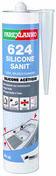Mastic 624 SILICONE SANIT blanc - cartouche de 300ml - Pâtes et Mastics sanitaires - Plomberie - GEDIMAT