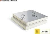 Mousse polyuréthane EUROTHANE AUTOPRO SI BD - 0,60x0,60m Ep.50mm - R=2,25m².K/W - Doublage laine de roche LABELROCK STANDARD BA10+40 - 2,50x1,20m - R=1,20m².K/W. - Gedimat.fr