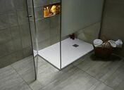 Receveur rectangulaire à poser QUARTZ résine polyester haut.3 cm larg.90 cm long.1,20 m blanc - Garde-corps d'étage pour escalier NICE LINE GC - Gedimat.fr