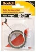 Toile de réparation adhésive noire - 3mx38mm - Toiles de verre - Revêtement Sols & Murs - GEDIMAT