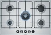 Plaque de cuisson 5 feux gaz SIEMENS 75 cm inox - Tables de cuisson - Cuisine - GEDIMAT