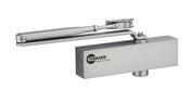 Ferme-porte hydraulique DESIGN réversible argent avec bras standard force 2 à 4 - Quincaillerie de portes - Menuiserie & Aménagement - GEDIMAT